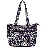 Ngil Quilted Cotton Shoulder Bag (Paisley Park Purple)
