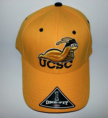 (UCSC Banana Slugs 3D Embroidered Hat Flexfit Fitted Cap OSFM)