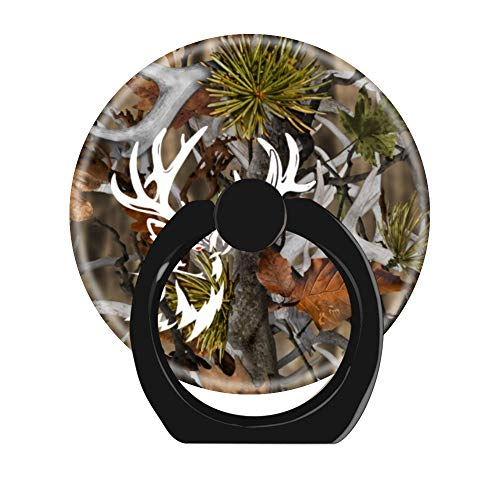 Cell Phone Ring Holder Cellphone Finger Stand 360 Degree Rotation Work for iPhone X 6 7 8 Plus S8 S9 Smartphone Ipad-Adrenaline Muley Deer Buck camo Camouflage ()
