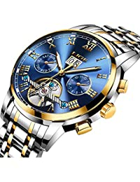 Mens Watch Waterproof Stainless Steel Dress Business Date Luxury Top Brand LIGE Automatic Mechanical Wristwatches