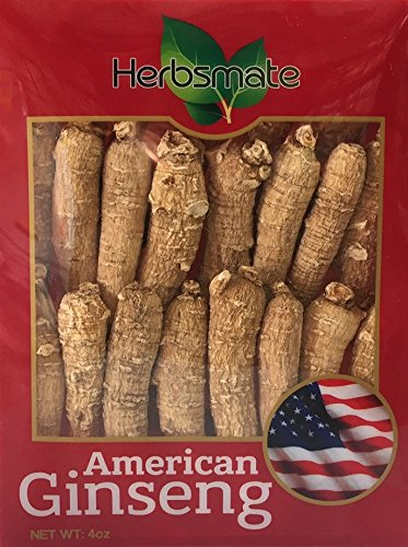 Hand-selected A Grade American Ginseng Medium Thin-Short Size (4 Oz. Box)