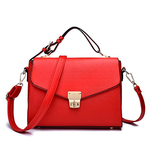 Red Bandoulière Petit à Fashion Sac Main Sac PU Sac BAILIANG Crossbody à Womens Carré IqZAOO