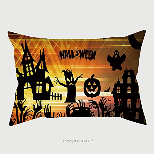 Custom Microfiber Pillowcase Protector Ultra High Definition Halloween Image 325433267 Pillow Case Covers (Scooby Doo Halloween Kiss)