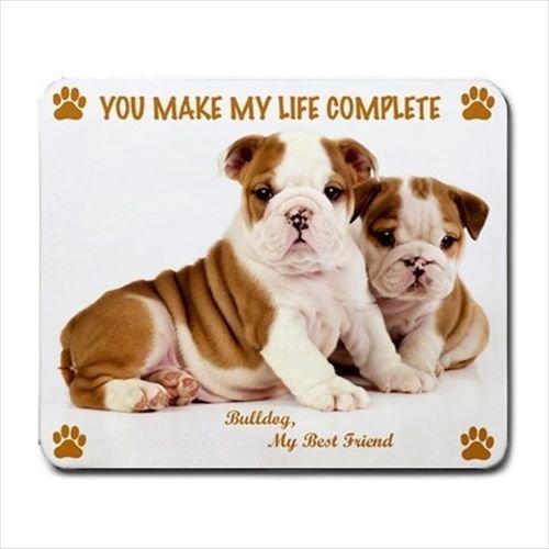 Adorable ENGLISH BULLDOG Dog Puppy Rubber Computer MOUSE PAD Mat ()