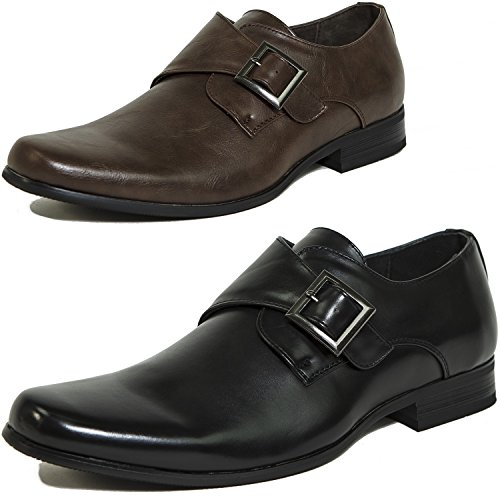 alpine swiss Mens Uster Monk Strap Loafers Suede Lined Slip On Shoes