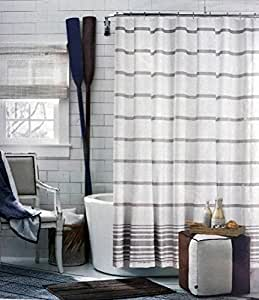 Amazon Com Tommy Hilfiger Fabric Shower Curtain Light