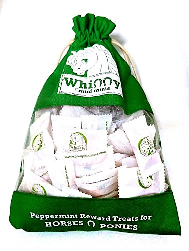 (Whinny Mini Mints Horse Treats Pony Treats 75 Individually Wrapped peppermints in a re-usable Bag)