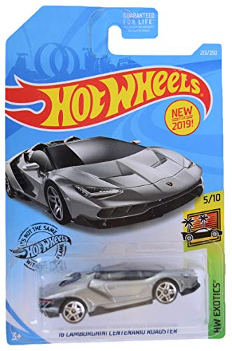 Hot Wheels HW Exotics 5/10 '16 Centenario Roadster 213/250, Silver