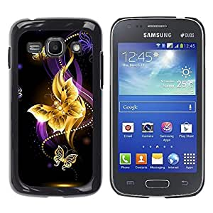 Slim Design Hard PC/Aluminum Shell Case Cover for Samsung Galaxy Ace 3 GT-S7270 GT-S7275 GT-S7272 Butterfly Black Colorful Purple Fire / JUSTGO PHONE PROTECTOR