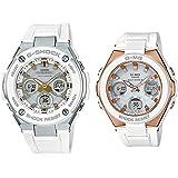 [カシオ]CASIO Gショック×ベビーG 大人のペアウォッチ 電池交換不要!電波ソーラー 高機能 アナデジ ホワイト 白セット GST-W300-7AJFMSG-W100G-7AJF 腕時計 [並行輸入品]