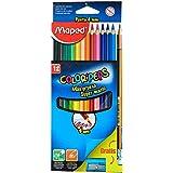 Maped, Kit Lápis de Cor 4 mm Color Peps com 1 Apontador e 1 Lápis Grafite Caixa x 12, Multicor