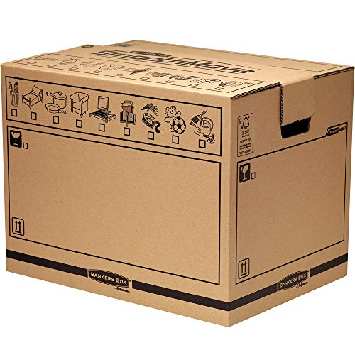 Fellowes Corrugated Box - Fellowes Bankers Box Smooth Move Large Removals Trunk (Pack of 5)