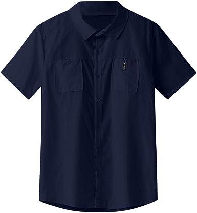 Overdose Camisa De Vestir De Manga Corta Holgada De Algodón Ocasional De Los Hombres Blusa Tops Camisetas Hombres Polos Manga Corta Hombre Hippie: Amazon.es: Ropa y accesorios
