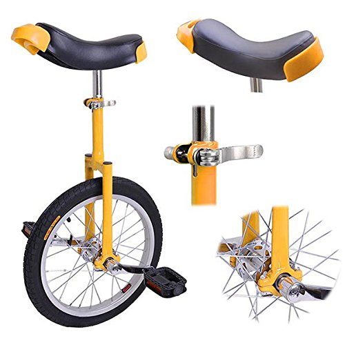 16 inch Wheel Unicycle Yellow