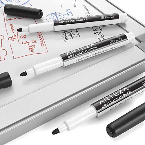 ARTEZA Dry Erase Supply Bundle: Multicolor Dry Erase Markers Chisel Tip Set of 52, Black Dry Erase Markers Fine Tip Set of 52 and Magnetic Dry Erasers Pack of 20 by ARTEZA (Image #3)