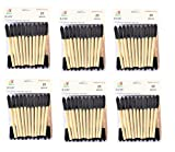 PANCLUB Foam Paint Brush Value Pack 1 Inch - 25 Per/Pack, 6 Packs, with Wood Handles, and Great for Art, Varnishes, Acrylics, Stains, Crafts