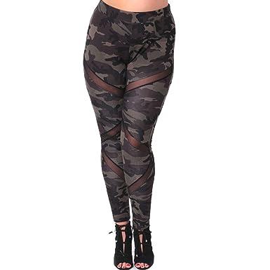 Vin beauty wlgreatsp Pantalon Gym Grande Taille Fitness Gym Pilates Mesh  Splice Pantalon Skinny élastique Leggings 0e431075e86