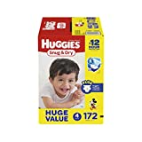 Health & Personal Care : HUGGIES Snug & Dry Diapers, Size 4, 172 Count, HUGE PACK (Packaging May Vary)