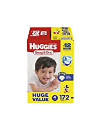 HUGGIES Snug & Dry Diapers, Size 4, 172 Count (Packaging May Vary) BOBEBE Online Baby Store From New York to Miami and Los Angeles