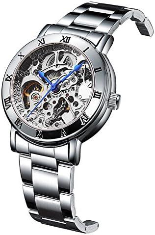 IK Women's Automatic Watch, Steampunk Self Winding Mechanical Silver Bracelet Women Wrist Watch