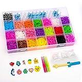 BTGGG 4400+ Multi-Color Rubber Bands Refills Set Bracelet Making Kits Loom Bands Kit Loom Included for Kids Bracelet Weaving DIY Crafting