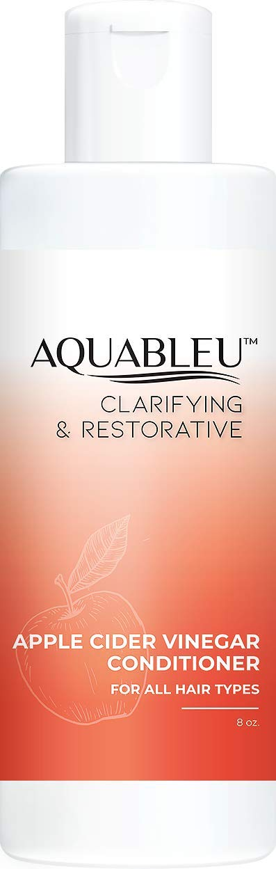 Aquableu Apple Cider Vinegar Conditioner - Clarifying & Restorative - Natural Keratin - For Hair loss - For All Hair Types - Sulfate & Paraben Free - For color-treated hair - For Men & Women. (8oz)