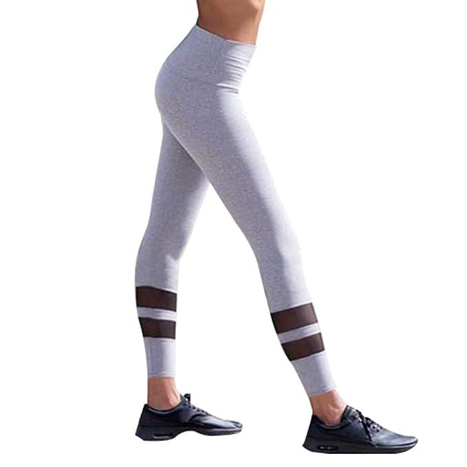 c3f604618b kunfang Deportivos Pantalones Mujer - Tul Perspectiva Yoga Pantalón  Entrenamiento Leggings  Amazon.es  Ropa y accesorios