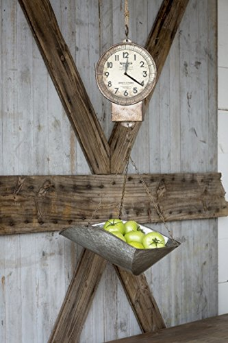 Vintage Hanging Produce Scale with Clock