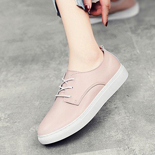 estudiante 40 Casual Tamaño Zapatos mujer planos Pink Zapatos blancas de de Color Mujeres blancos Pink HWF de Zapatos para primavera Zapatos mujer Snw0qxwARO
