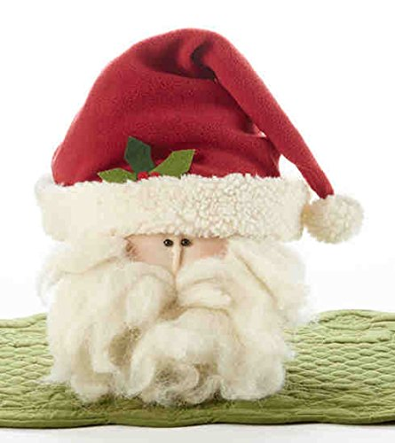 (Delton Products 8 inches Large Santa Head with Red Hat Home Decor)