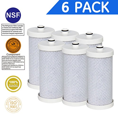 Icepure RWF2300A 6PACK Compatible with Frigidaire WF1CB ,WFCB,218710901,RF-100,KENMORE 46 9906,9910 Water filter