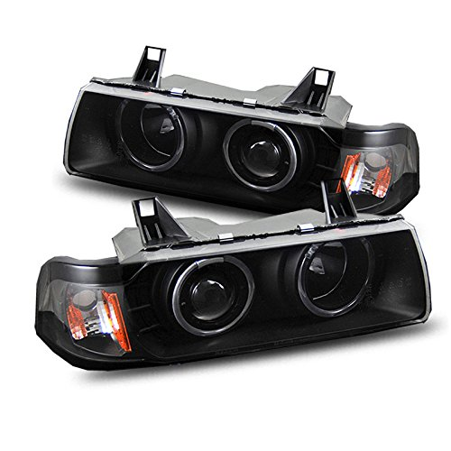 EpandaHouse Compatible with 92-98 BMW E36 4Dr Saloon 318/325/M3 Angel Eyes Halo Projector Headlights - Projector 98 E36 Bmw Halo