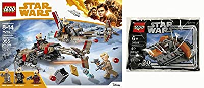 LEGO The War in The Stars Featuring Solo Story Battle Scenes for You to Recreate: Cloud-Rider Swoop Bikes 75215 & Snowspeeder 30384 Mini Bag 2 Items