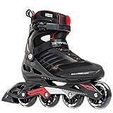 Rollerblade Zetrablade  Skate - 4x80mm/84A Wheels - SG 5 Performance Bearings - Black/Red  - US Men's 9 (27.0)