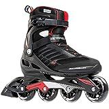 Rollerblade Zetrablade Men's Adult Fitness Inline Skate, Black and Red, Performance Inline Skates