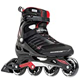 Rollerblade Zetrablade Men's Adult Fitness Inline Skate, Black and Red, Performance Inline Skates