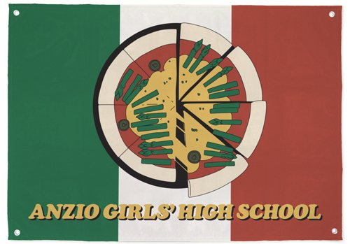 Girls & Panzer Anzio high school flag