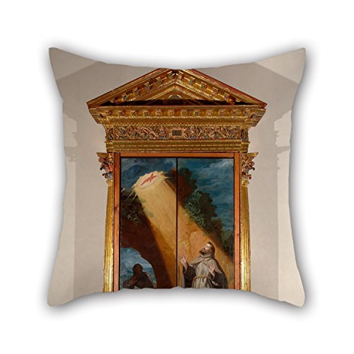 Cushion Cases Of Oil Painting Bartolomew Carducci - Reliquary Retables Of San Diego,for Chair,indoor,dance Room,couch,girls,valentine 18 X 18 Inches / 45 By 45 Cm(2 (Carducci Sweater)
