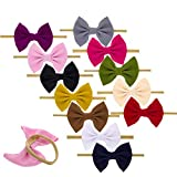 Baby Nylon Knotted Headbands Girls HeadWraps Newborn Infant Toddler Hairbands and Bows (Multicolor- PG17)