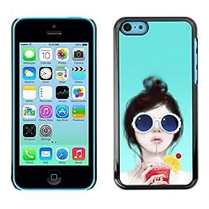 LASTONE PHONE CASE / Carcasa Funda Prima Delgada SLIM Casa Carcasa Funda Case Bandera Cover Armor Shell para Apple Iphone 5C / British Girl