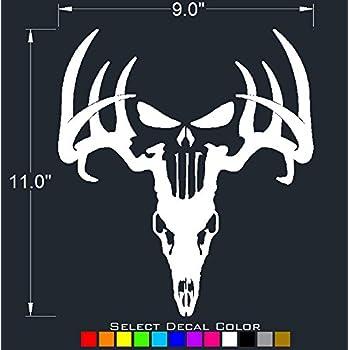 Amazon Com Underground Designs Deer Punisher Skull Decal