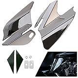 ECLEAR Saddle Shield Heat Air Deflector For Harley Touring FLHTC FLHRC FLTR FLHR FLHX 2008 - Chrome