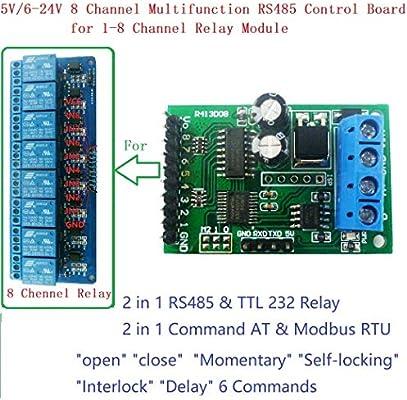 NO LOGO WNJ-Mod, RS485 RS232 (TTL) Módulo Modbus Rtu PLC 8ch IO ...