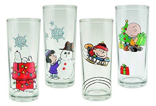 Peanuts Holiday 4 PC. 10oz Glass Set