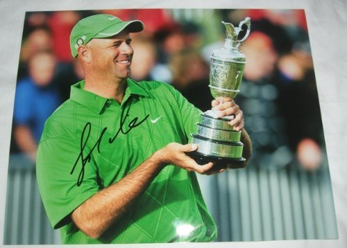 Stewart Cink Autographed PGA 8x10 W/PROOF, Picture of Stewart Signing For Us, Masters Champion, PGA Championship, US Open, The Open Championship, PGA ()