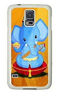 funny Samsung Galaxy S5 cases Tv Elephant Art PC White Custom Samsung Galaxy S5 Case Cover