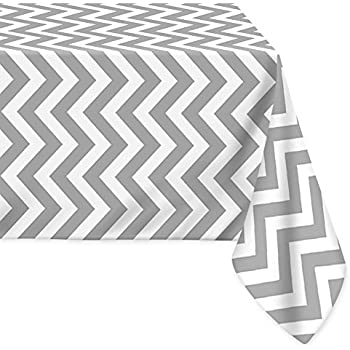 LEEVAN Fabric Tablecloth Stylish Waterproof Spill Proof Chevron Pattern  Home Decoration Table Cover Polyster Tablecloth