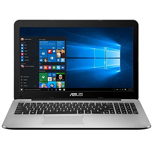 ASUS X555DA-WS11 15.6-inch Laptop (AMD Quad Core A10-8700P 1.8 GHz, Turbo to 3.2 GHz , 8GB GDDR3 RAM, 1000 GB Hard Drive, Windows 10), Dark Grey ()