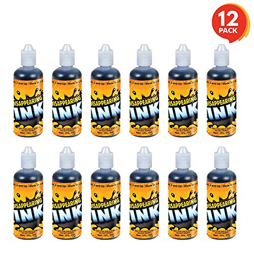 ArtCreativity Magic Ink in Blue (Pack of 12) | Includes 1-Ounce Squeezable Bottles | Magical Pranks and Jokes | Amazing Party Favor and Prize for Kids | Fun Camp Prizes -