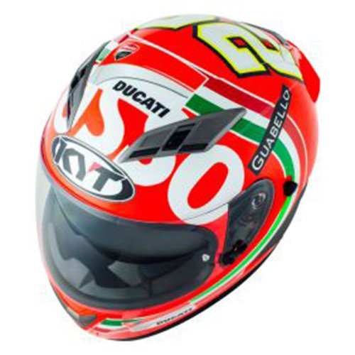 Amazon.es: CASCO INTEGRAL MOTO KYT FALCON IANNONE ROJO MUGELLO REPL ...